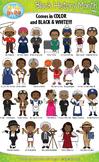 Black History Month Characters Clipart {Zip-A-Dee-Doo-Dah