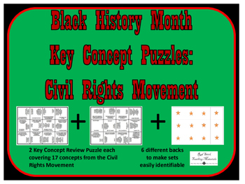 Black History Month, Civil Rights Movement--SET of 2 Puzzles