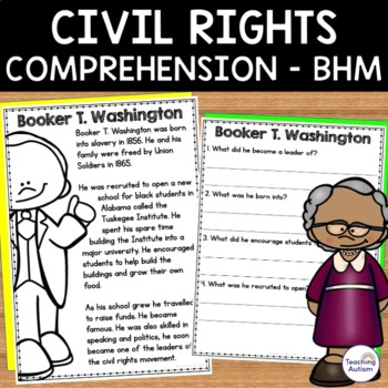 Black History Month - Civil Rights - Reading Comprehension