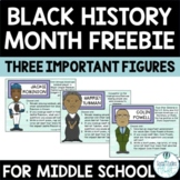 Black History Month Class Starters 3-Pack Free w/ Video Links & Student Choice