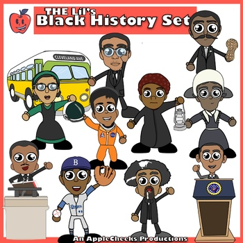 black history month clip art cartoons commercial use by applecheeks rh teacherspayteachers com black history month clipart free african american history month clipart