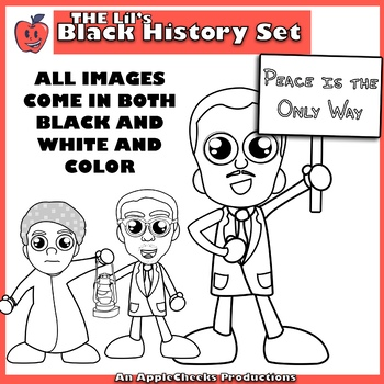 Black History Month Clip Art Cartoons (Commercial Use)