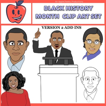 Black History Month Clip Art Package Updated Commercial Use