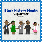 Black History Month Clip art. Color and B&W. PNG Files.