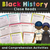 Black History Month Activities, Close Reading, and Text De