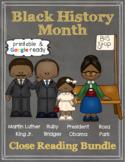 Black History Month Close Reading Comprehension Passages & Questions Bundle