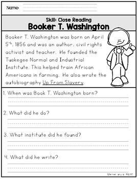Black History Month Close Reading (K-2)