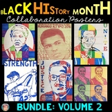 Black History Month Activities: Collaboration Posters BUNDLE Volume 2