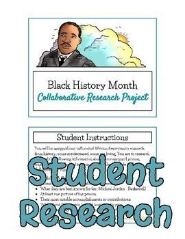 Black History Month Collaborative Research Project - Google Slides - NO PREP