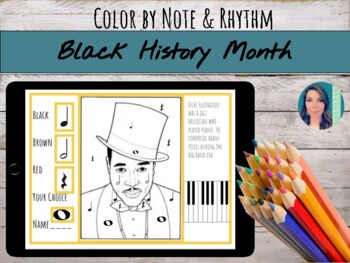 Black History Month Color by Note/Rhythm Printables