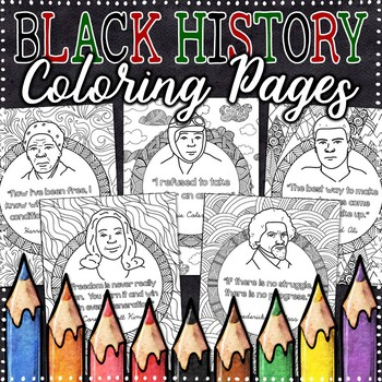 Black History Month Coloring Pages - 22 Fun, Creative Designs! by ...