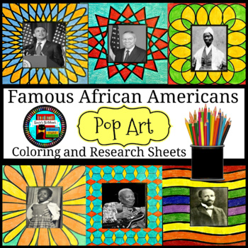 Black History Month Coloring Pages Interactive Notebook