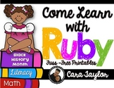 Black History Month~ Come Learn with Ruby Bridges Fuss-Free/No Prep Printables