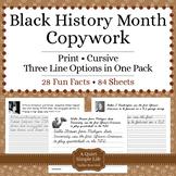 Black History Month Activity - Copywork - Handwriting - Print