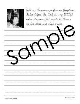 Black History Month Activity - Copywork - Handwriting - Print and Cursive