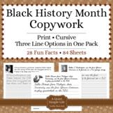 Black History Month Activity - Copywork - Handwriting - Pr