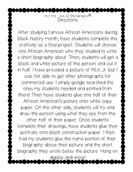 Black History Month Craftivity