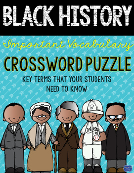 Black History Month Crossword Comprehension Puzzle