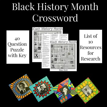 Famous African Americans Crossword