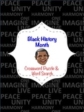 Black History Month Crossword Puzzle & Word Search