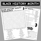 Black History Month Crossword & Word Search Combo