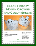 Black History Month Crowns and Color Sheets