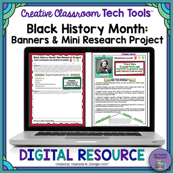 Black History Month DIGITAL Banners: Mini-Research Project