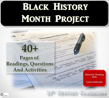 Black History Month-Daily Biographies and Project
