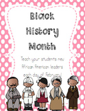 Black History Month: Daily Posters and Letters to Teach By