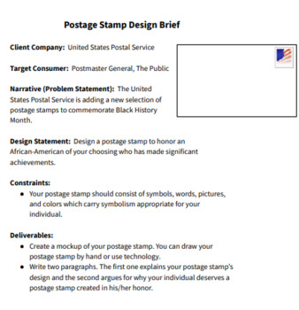 Black History Month Design Challenge: Create a Postage Stamp!