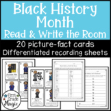 Black History Differentiated Read and Write the Room Center