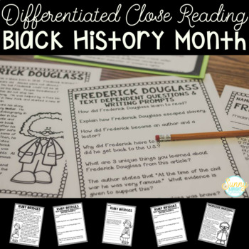 Black History Month Differentiated Close Reading Unit