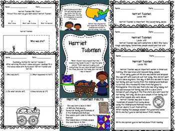 Black History Month ~ Differentiated Activities