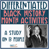 Black History Month Differentiated Activities