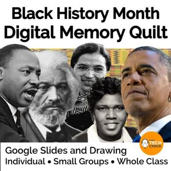 Black History Month Digital Memory Quilt for Google Drive & Microsoft OneDrive