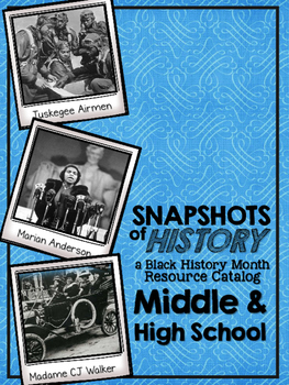 Black History Month Digital Catalog for Middle School and High School