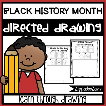 Black History Month Directed Drawing Activity for Including Art in any Subject