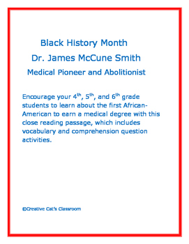 Black History Month: Dr. James McCune Smith