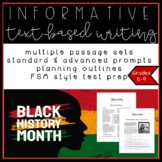 Black History Month ELA Informative Writing Test Prep Pack