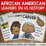 African American Leaders Easy Readers Black History Month Activities