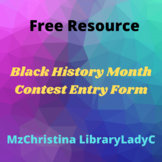Black History Month Contest Entry Form