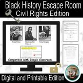 Black History Month Escape Room, Civil Rights Escape Room,