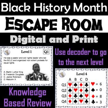 Black History Month: Escape Room - Social Studies