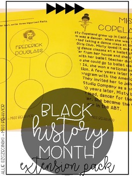 Black History Month - Extension Pack