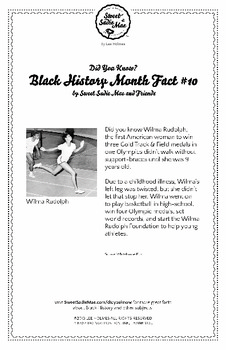 Black History Month Fact #10 Character Education Activity Resource