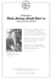 Black History Month Fact #17 Character Education Activity Resource