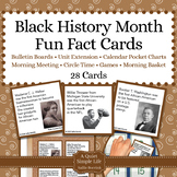 Black History Month Unit Activity - Fun Fact Cards for Games, Bulletin Board