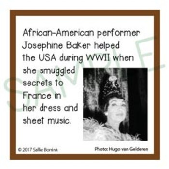black history month unit activity fun fact cards for