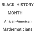 Black History Month - Famous African-American Mathematicians