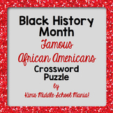 Famous African Americans Crossword Puzzle